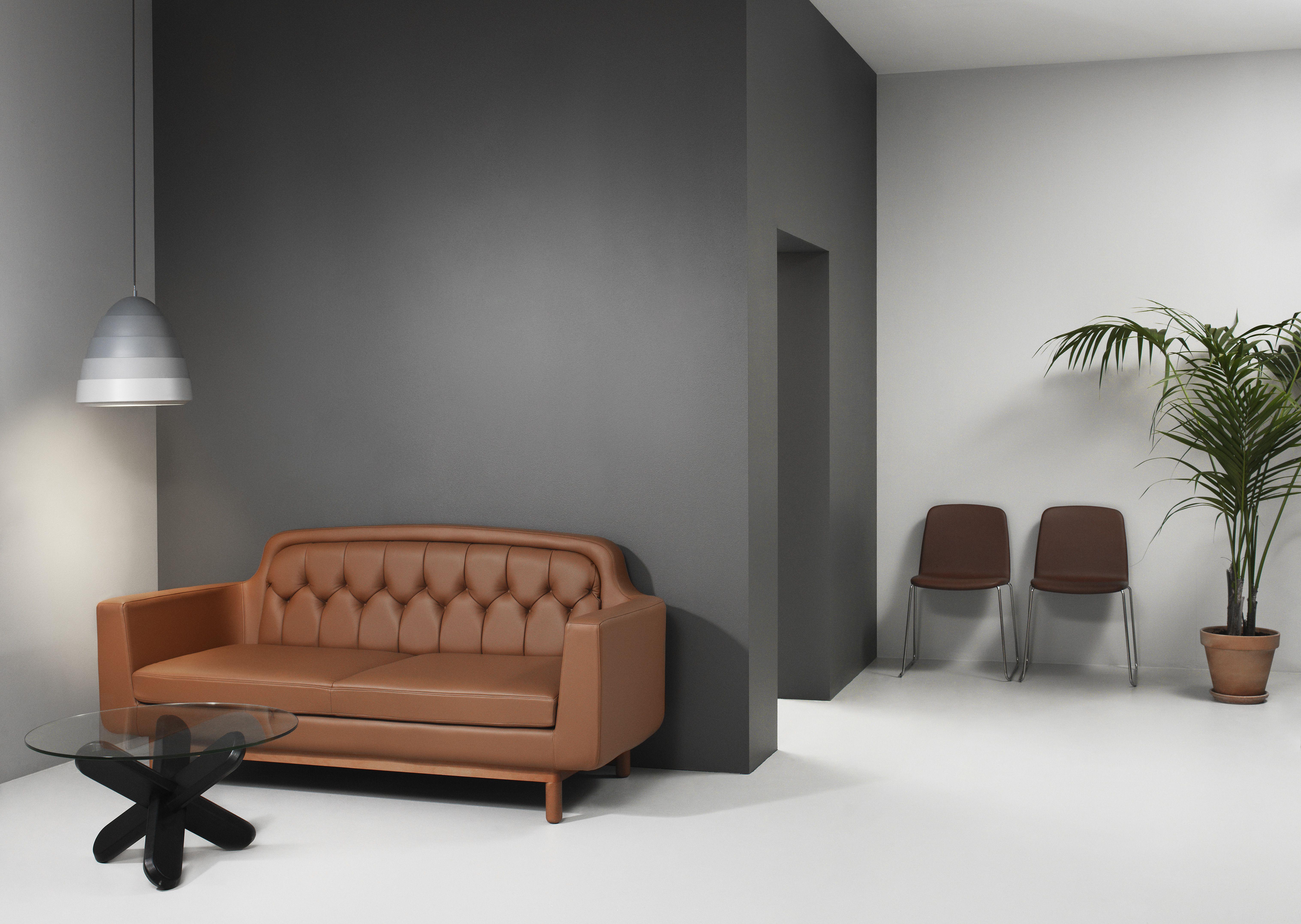 kel tan leather 2 seater sofa by Normann Copenhagen