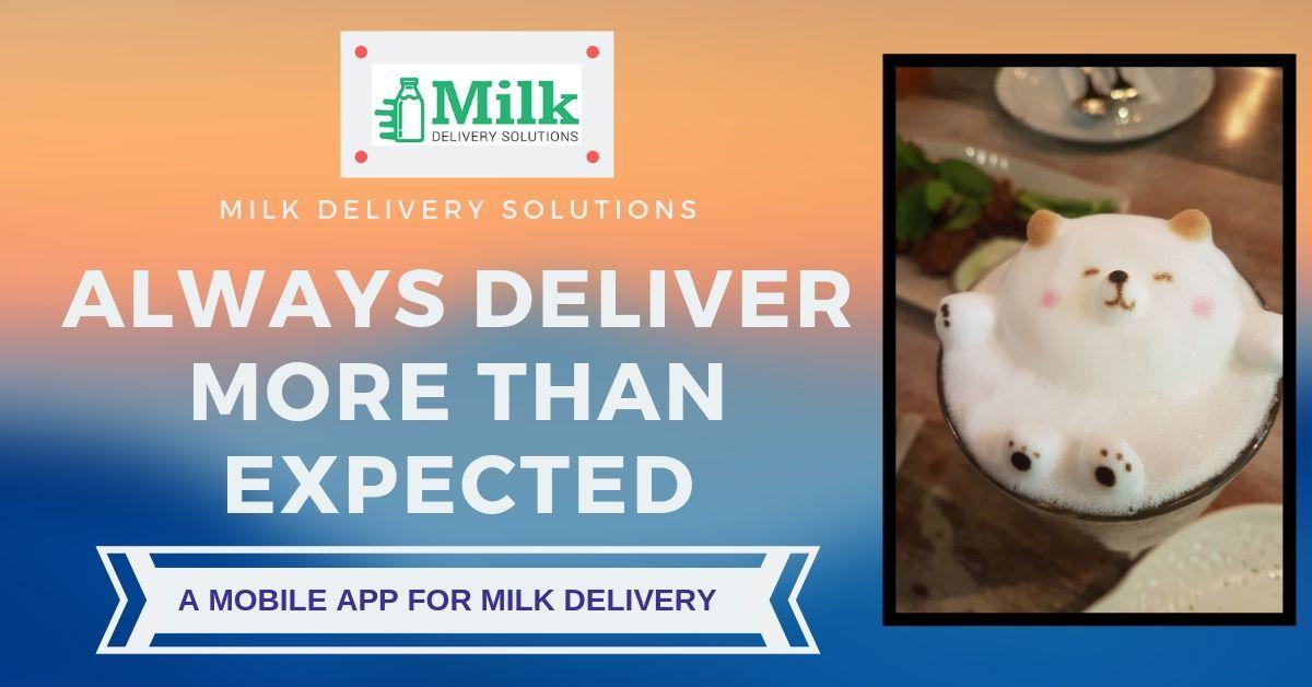 Milk Delivery App Milk delivery, Delivery app, Milk