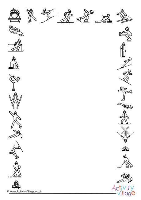 Winter Olympics sports frame | sport | Pinterest | Olympics, Winter ...