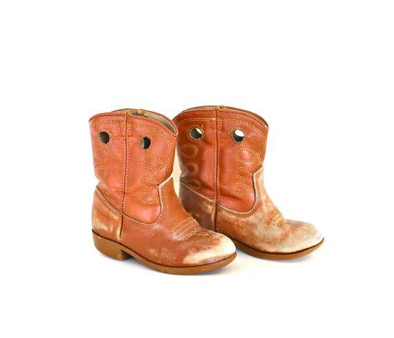 Little Cowboy  Vintage Children's Worn In Leather by becaruns, $42.50