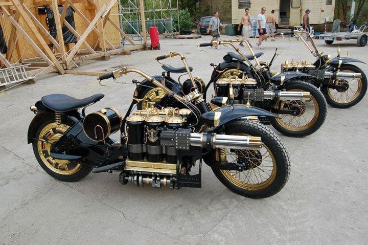 Steampunk Bikes. #Dynanim #Vehicles