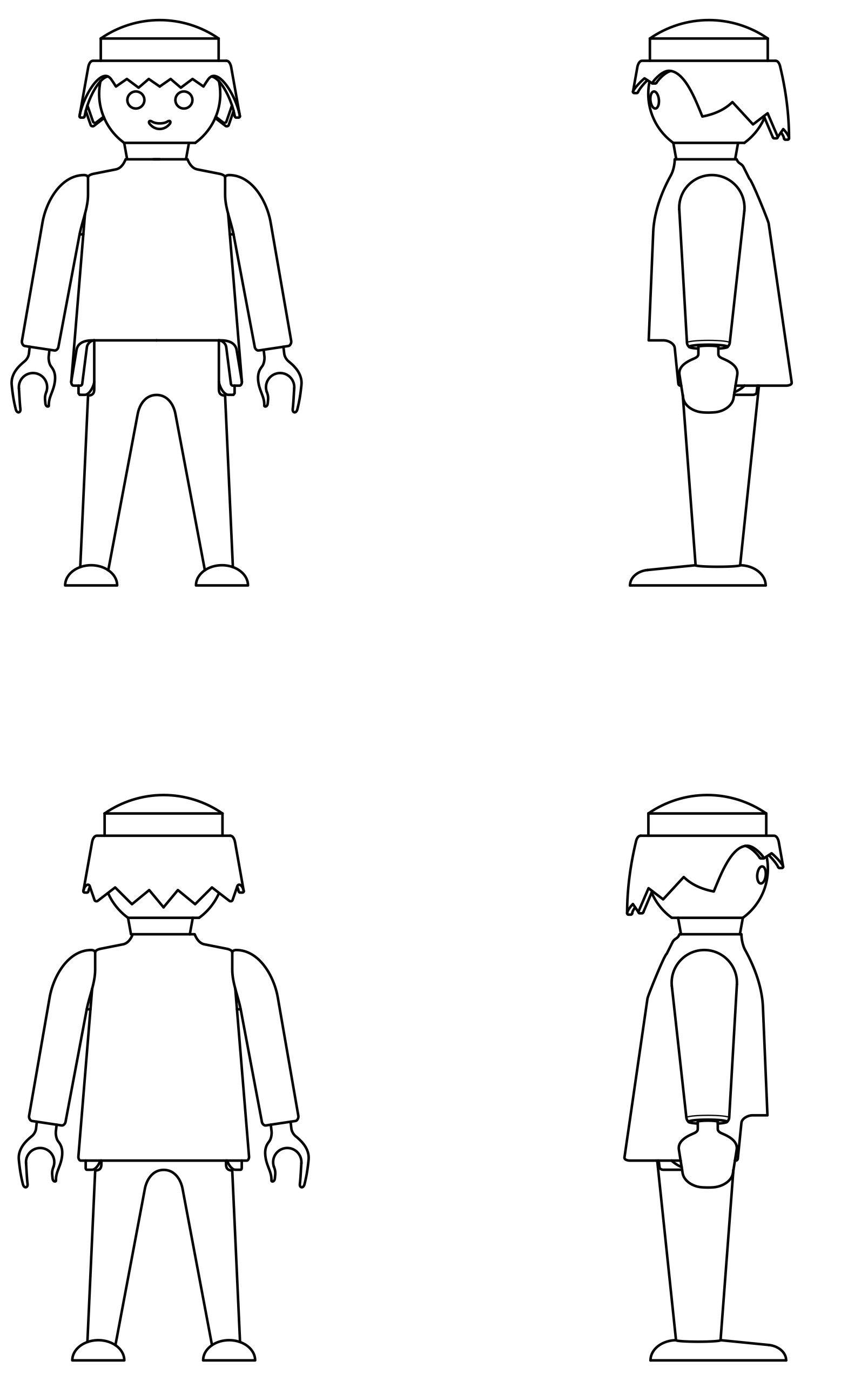 Coloriage  imprimer Personnages cél¨bres Playmobil numéro