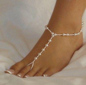 Bridal Pearl Beach Wedding Barefoot Sandals Strandhochzeit Schuhe Fusskettchen Fussschmuck