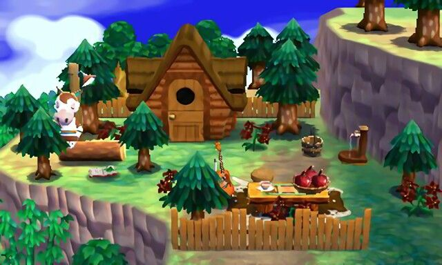 A House In The Forest Animal Crossing Happy Home Designer Deco Maison Jeux Animaux