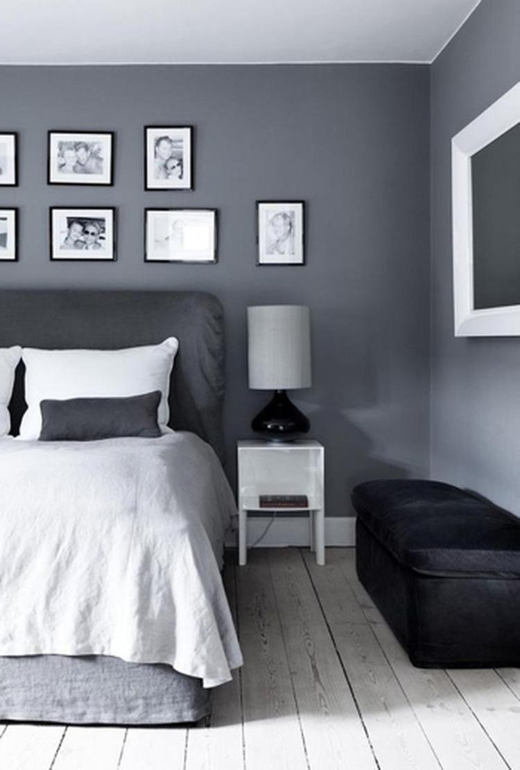 Grijs is een prachtige neutrale kleur voor in de slaapkamer. Op ...