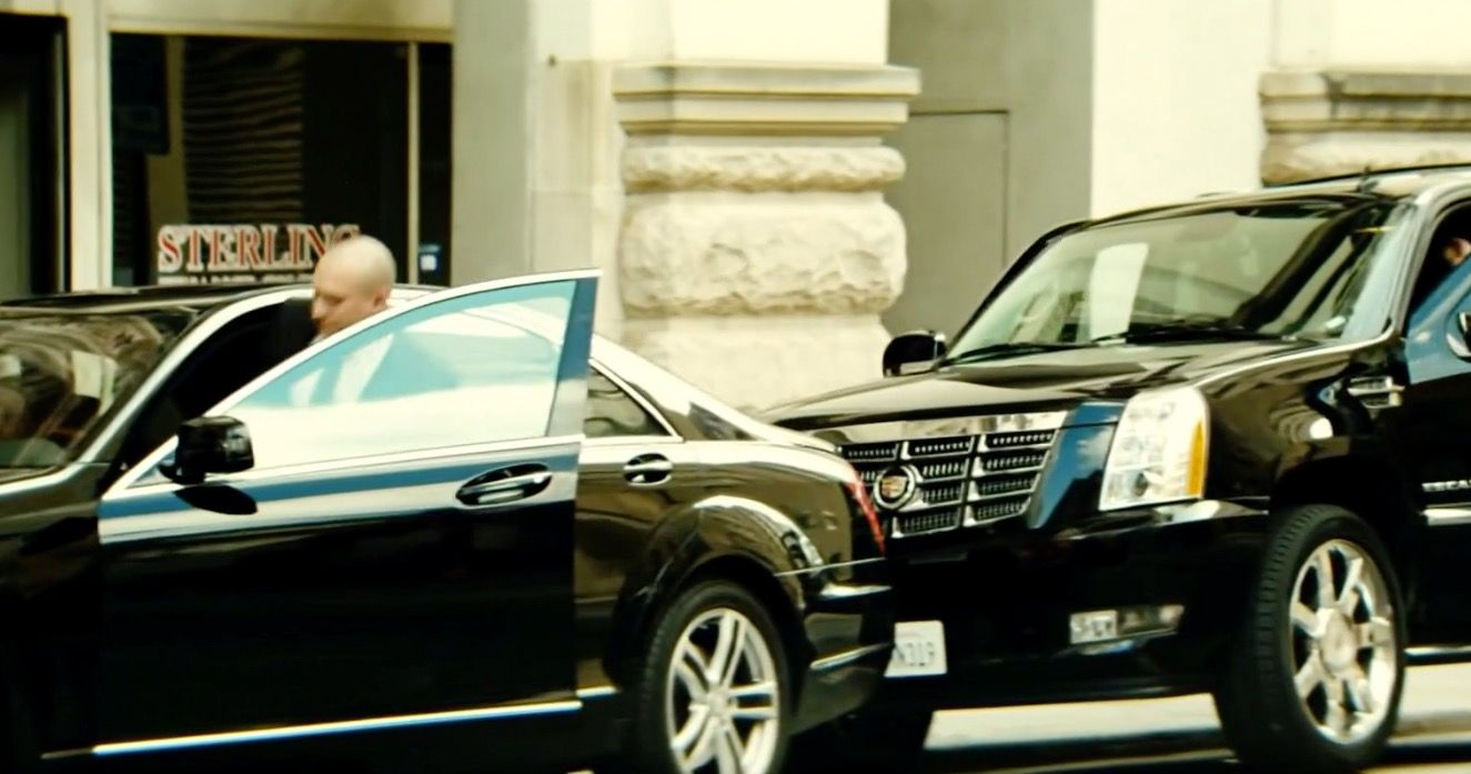 Mercedes benz s 550 w222 2014 and cadillac escalade suv in