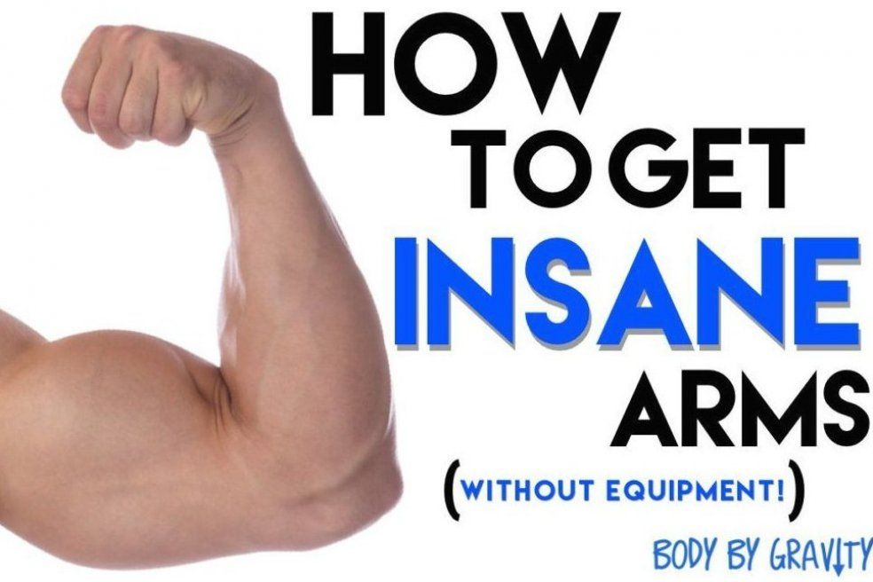 How to Get Insane Arms Without Equipment #workout #fitness #bodytransformation