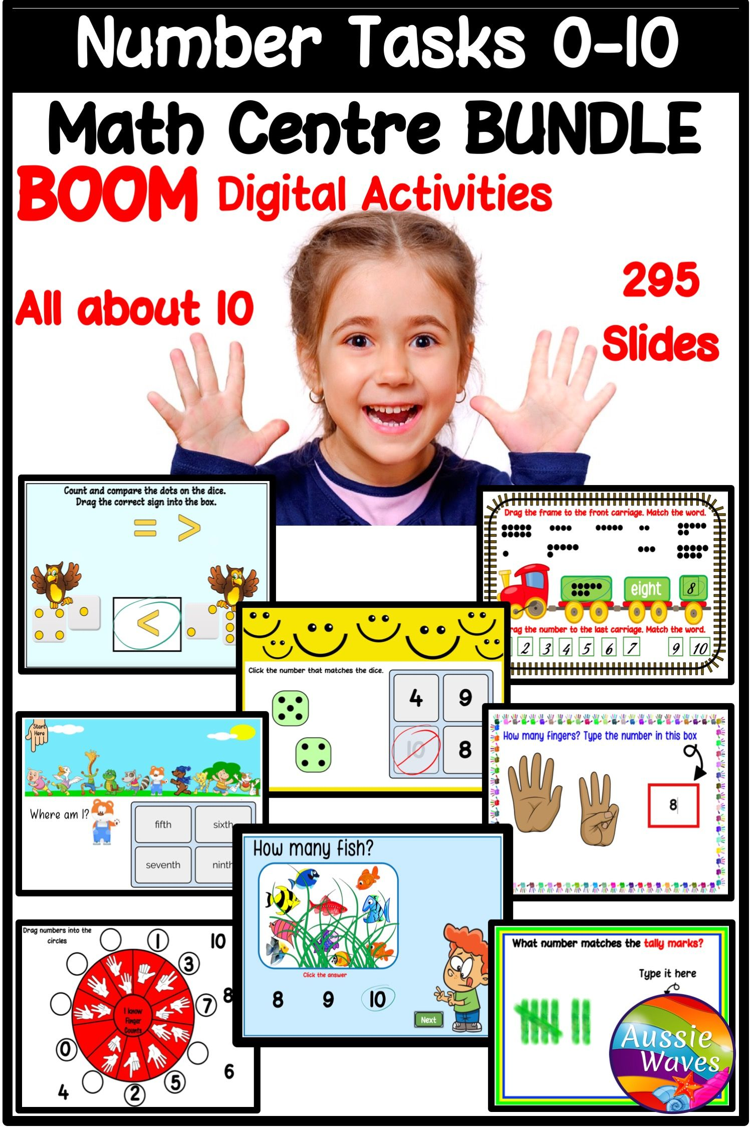 Boom Bundle For Math Counting Numbers 0 10 In