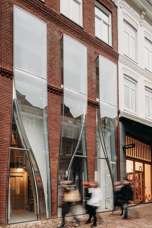 UNStudio's billowing facade renovation in Amsterdam showcases a playful approach to glass | The Looking Glass by UNStudio. Image © Evabloem | Archinect