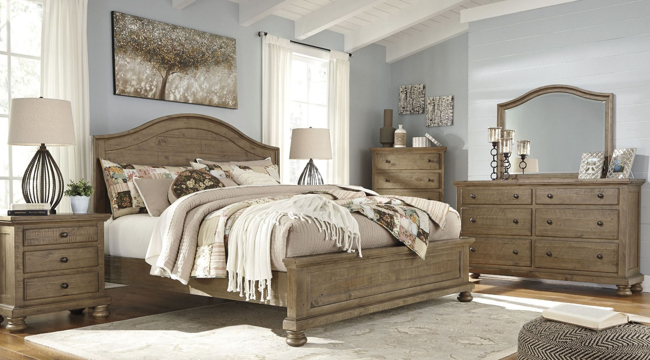 light colored bedroom sets