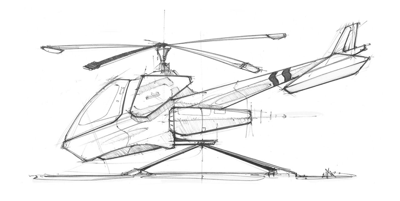 Sketches we like pencil hand sketch helicopter linedraw at