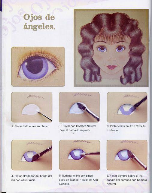 Dibujos y Plantillas para imprimir: pintado ojos de muñecas   dibujo ...