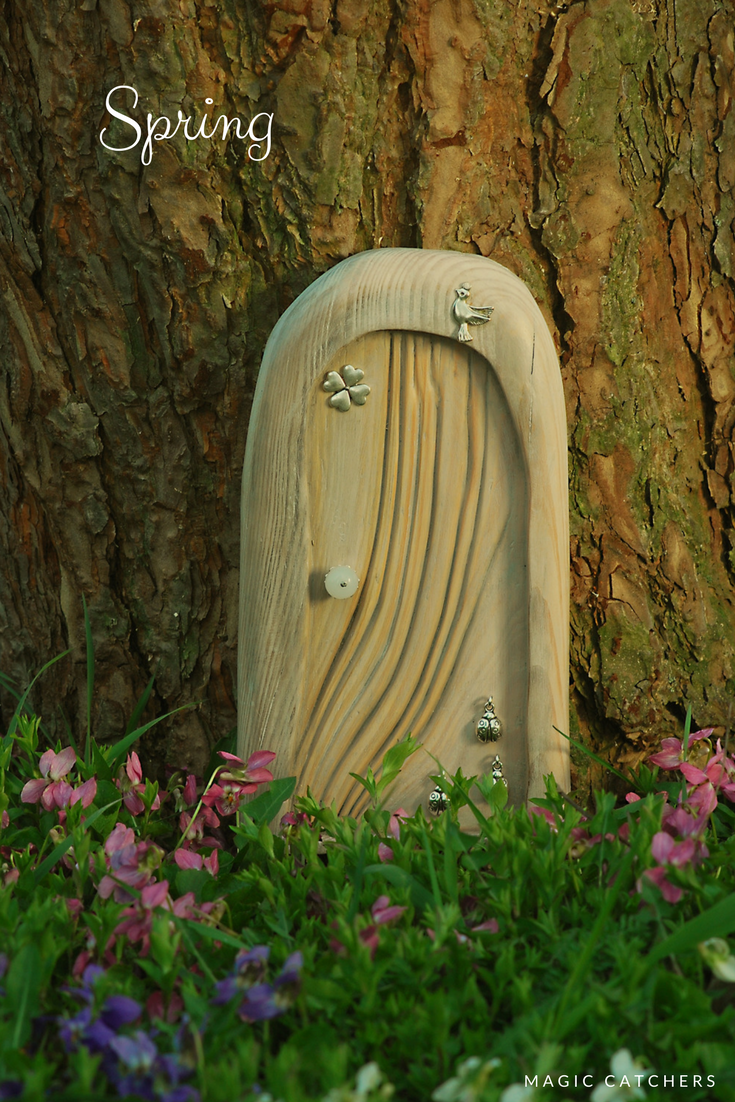 Spring!! Fairy Garden door hand crafted by Magic Catchers. Spring ...