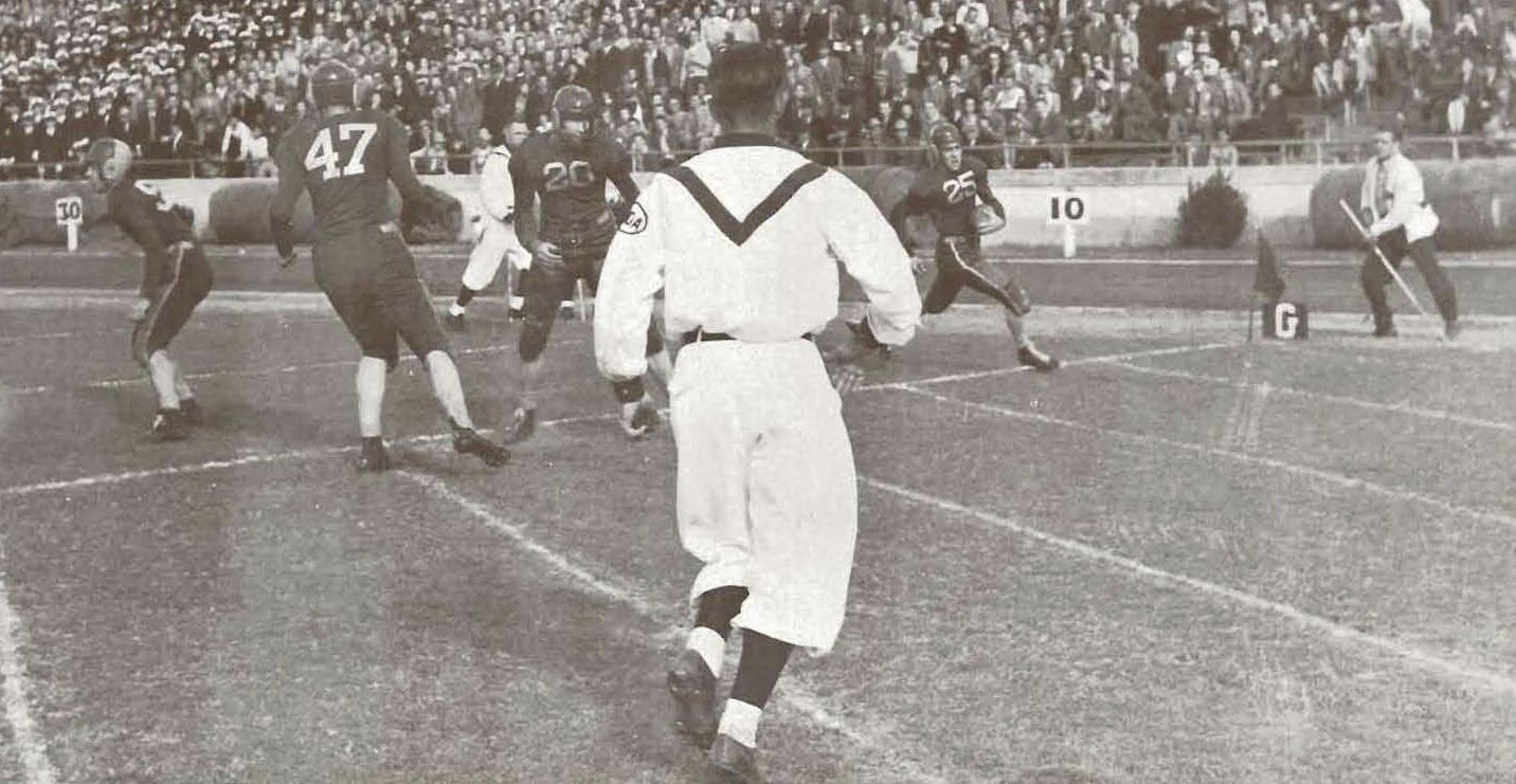 1941 Oregon Texas football game in Austin, TX. From the