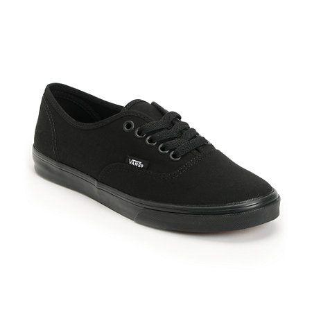 CLASSIC :D Vans Girls Authentic Lo Pro All Black Shoe