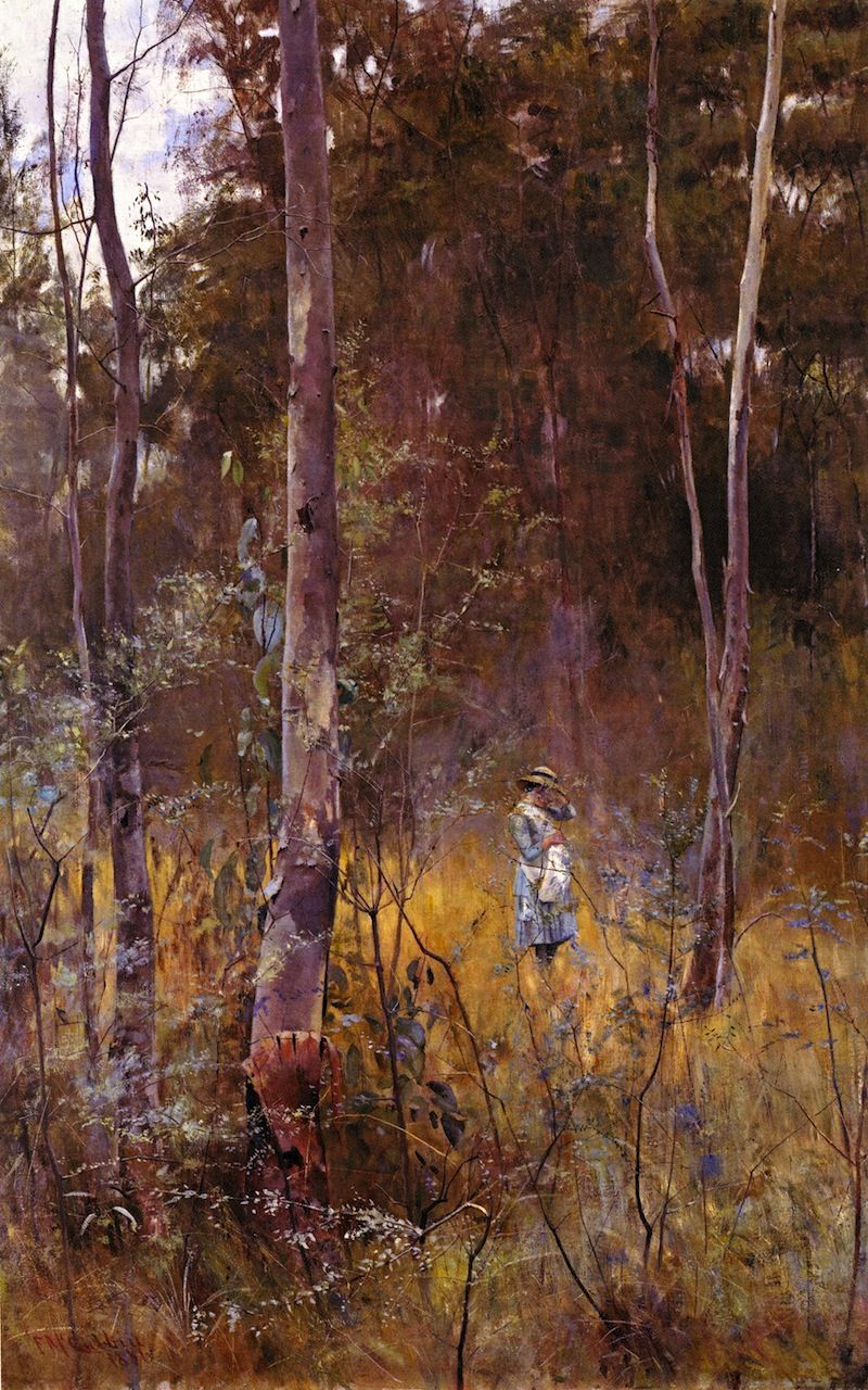 Lost . 1886 Frederick McCubbin (25 February 1855 – 20 December 1917) was an Australian painter who was prominent in the Heidelberg School, one of the more important periods in Australia's visual arts history.)