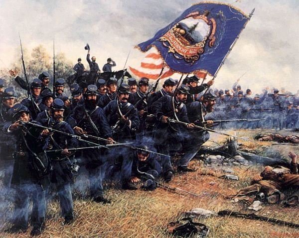 a history of the american civil war and the leaders of the union and confederate forces Military theory in the american civil war  they attacked the union forces in eight of the first twelve major battles of the war  the confederate forces were.