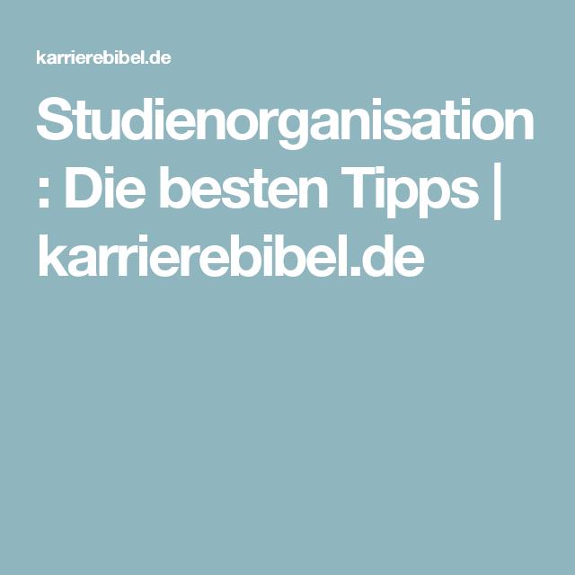 Studium Tipps