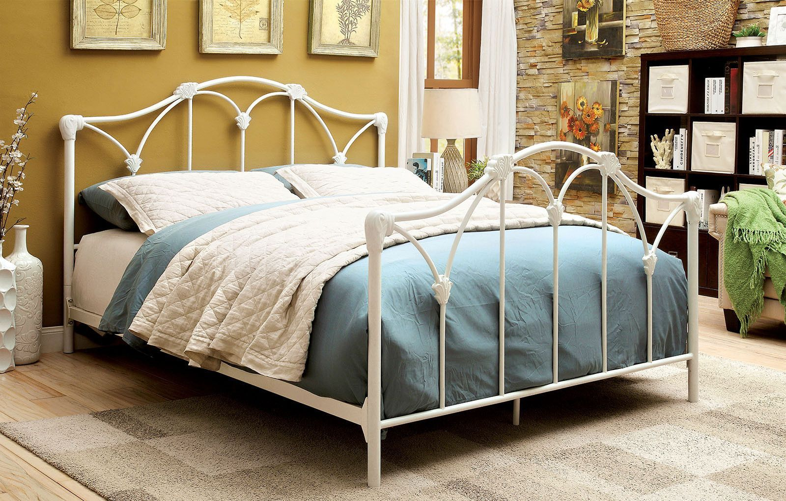 Cecilia Beds Cm7731 White Metal Bed