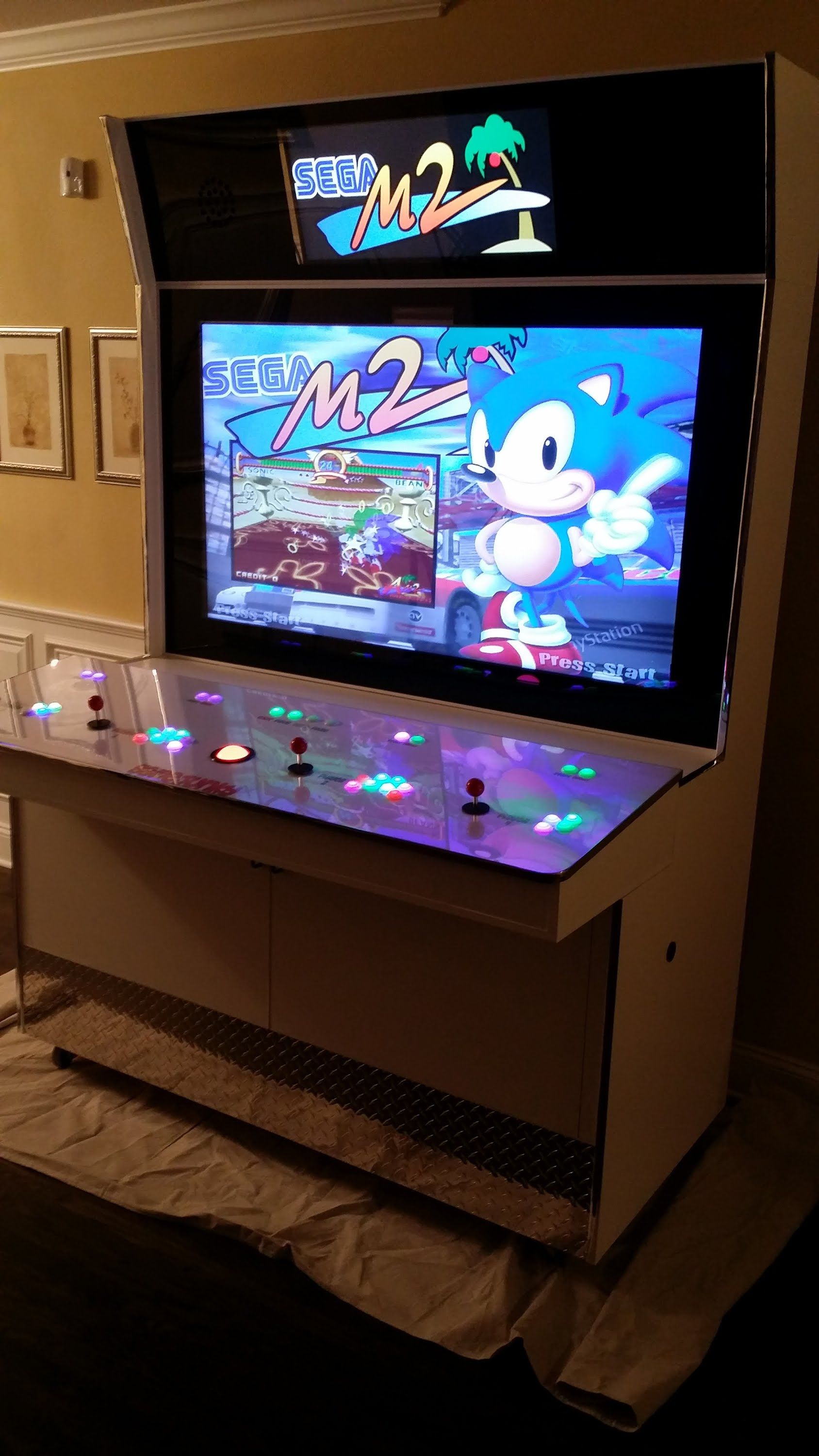 ninja arcade heads has printed custom joysticks cabinet turtle with tmnt