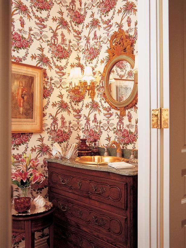 English Floral Bath Accessories