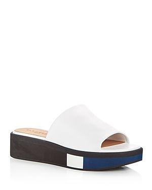 Robert Clergerie Embossed Slide Sandals sale geniue stockist 2E3Vf9i5y