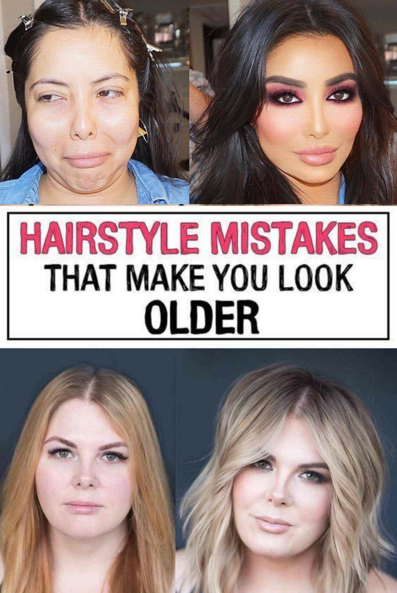 11 Hairstyle Mistakes That Are Aging You In 2020 Hairstyle Hair Mistakes Natural Beauty Tips