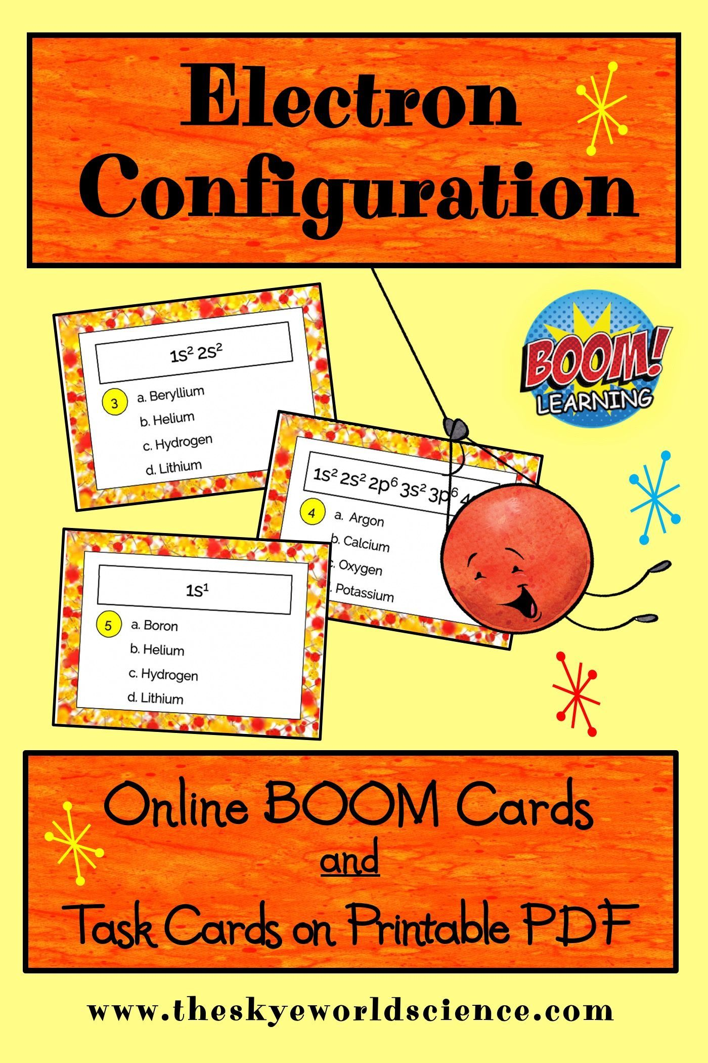 Electron Configuration Task Cards