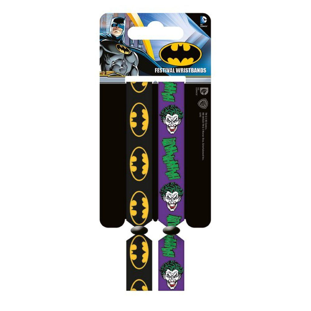 Batman Logo And Joker Double Festival Wristband Set Amazon Co Uk