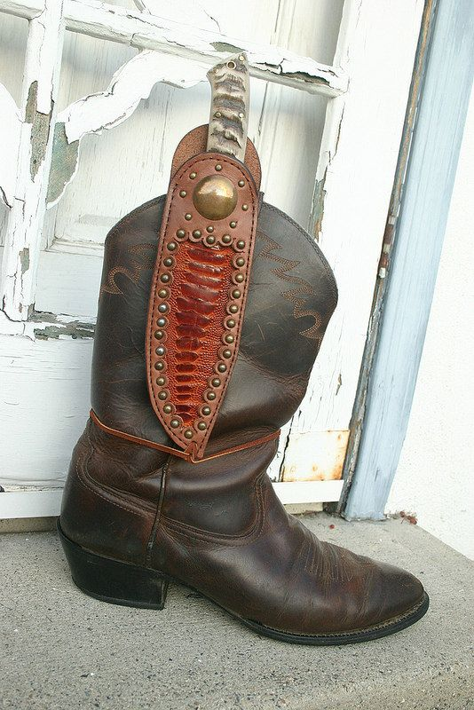 Custom Request Boot Knife Sheath Boot Knife Boots Cool Boots