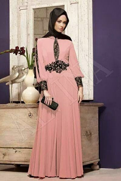 Robe de soiree hijab chic