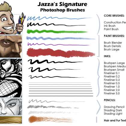 Jazza's Signature Photoshop Brushes in 2019 | DIY projects