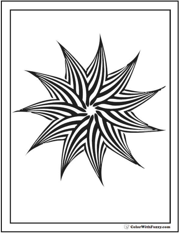 Geometric Patterns Kids Coloring Pages