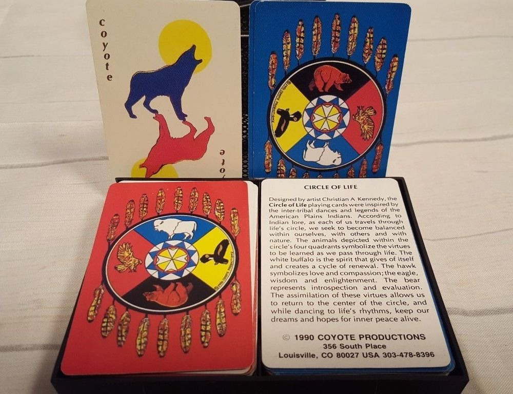 Vintage 1990 Circle Of Life Playing Cards American Plains