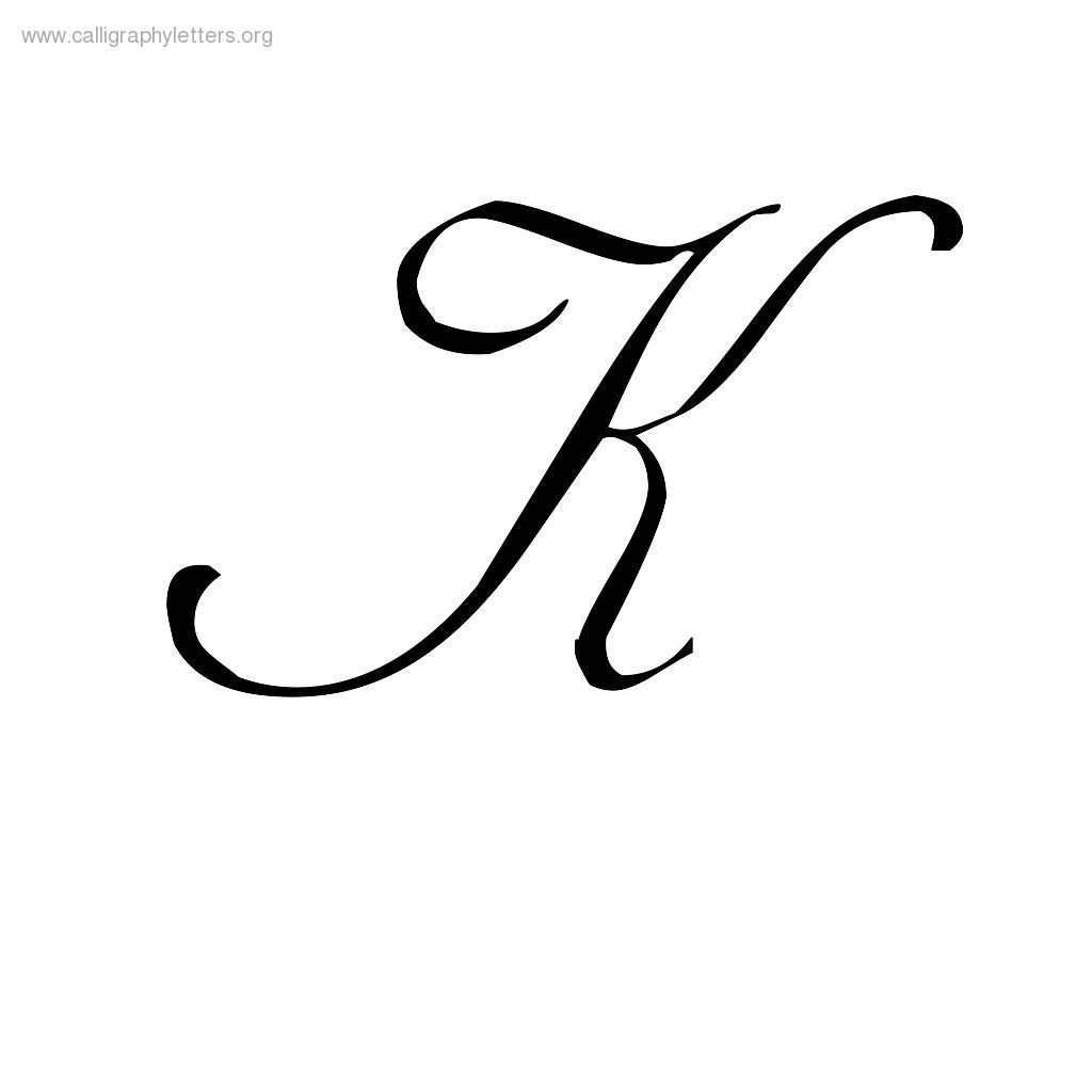 Fancy Letter K Designs