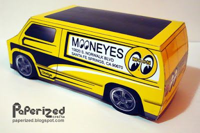 Mooneyes 77 Custom Dodge Van Papercraft | Papercraft | Dodge