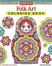 Folk Art Coloring Book By Thaneeya Mcardle Available At Depository With Free Delivery Worldwide