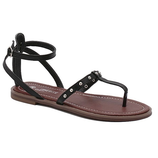 22.76$  Buy now - http://di6oz.justgood.pw/go.php?t=185727504 - Casual Ankle Strap and Rivet Design Women's Sandals