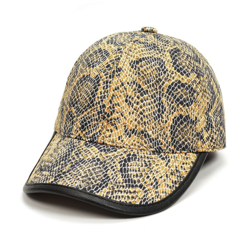 Snake Skin Print Baseball Cap Snapback Mesh Casual Caps for Men Women  Outdoor Travel Sun Hat Men Hip Hop Hat fe8b84dca10b