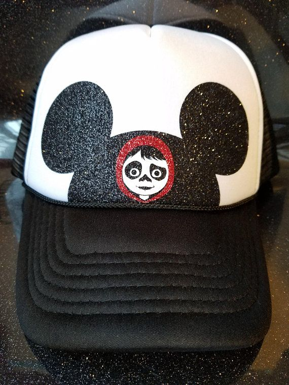 363441844c8 Disney Mickey Ears Coco Trucker Hat. ADULT Solid Trucker Hat One size fits  most with