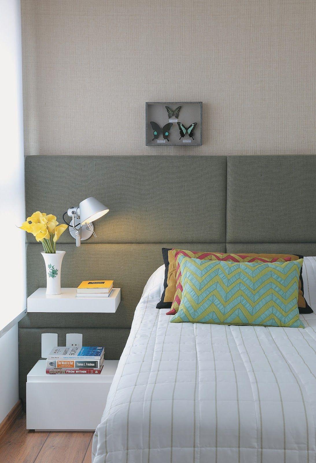 Oficina de arquitetura cabeceira de cama estofada for Cama oficina