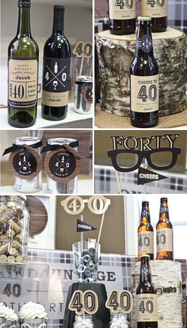 Bottoms up 40th birthday party ideas for guys 40th for 40 birthday decoration ideas