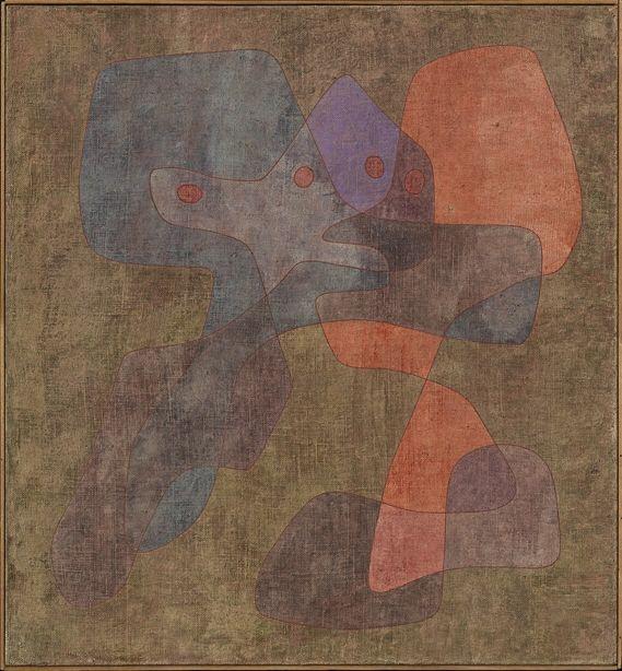 Paul Klee  'Vermittlung' (Mediation) 1935 Watercolor over pencil on chalk-primed burlap   120.5 x 111 cm