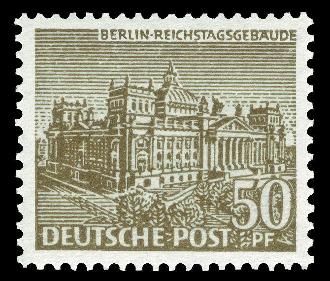 Deutsche Post Berlin 1949 Reichstagsgebäude (mit Bildern