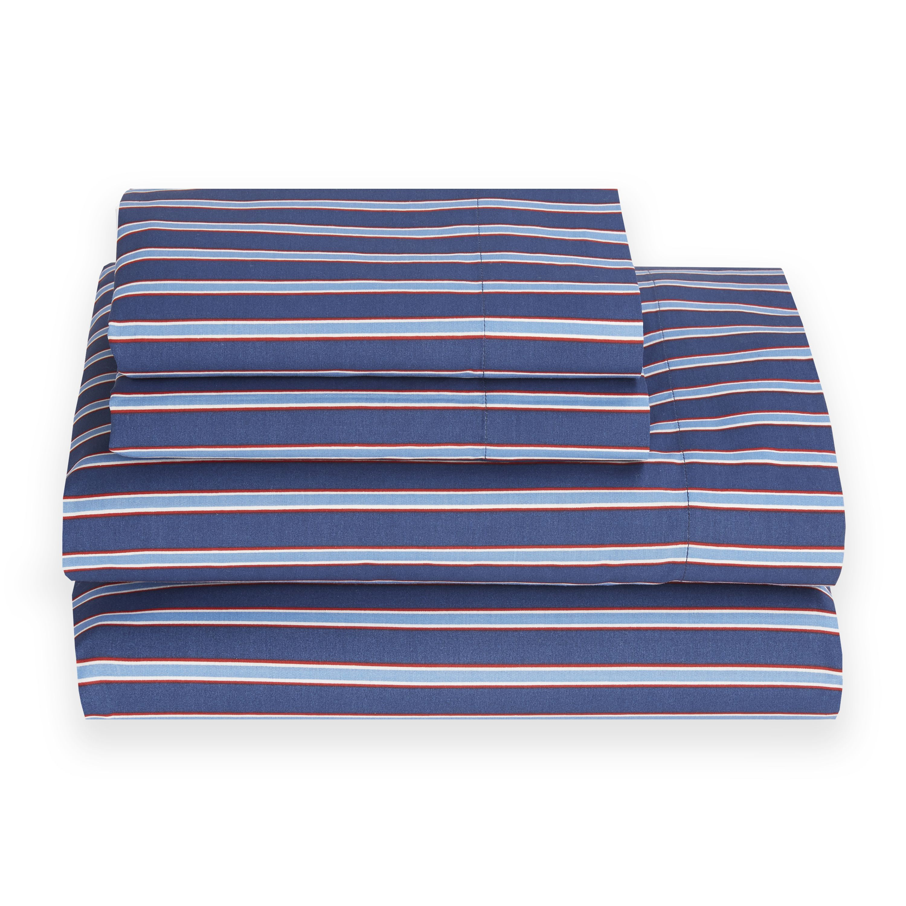 Bold Stripes On A Dark Blue Background Make These Tommy Hilfiger Sheets Ideal For Any Decor Made Of Soft Cotton Polyester Blend Are