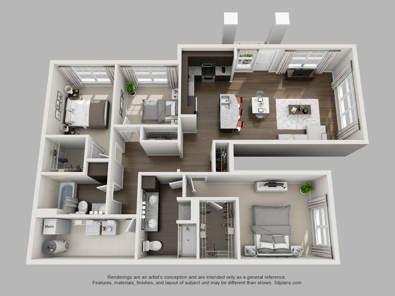 This 3 Bedroom On The 1st Floor Is Huge And The Layout Is So Great Sims House Design Sims House Plans Small House Plans