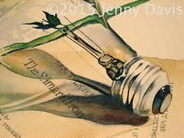 Resultado de imagem para lamps in watercolors