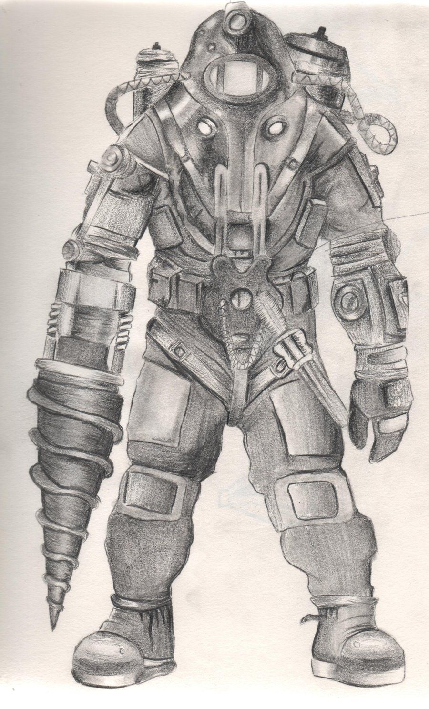 Bioshock 2 Big Daddy By Diamondskeletons Deviantart Com On
