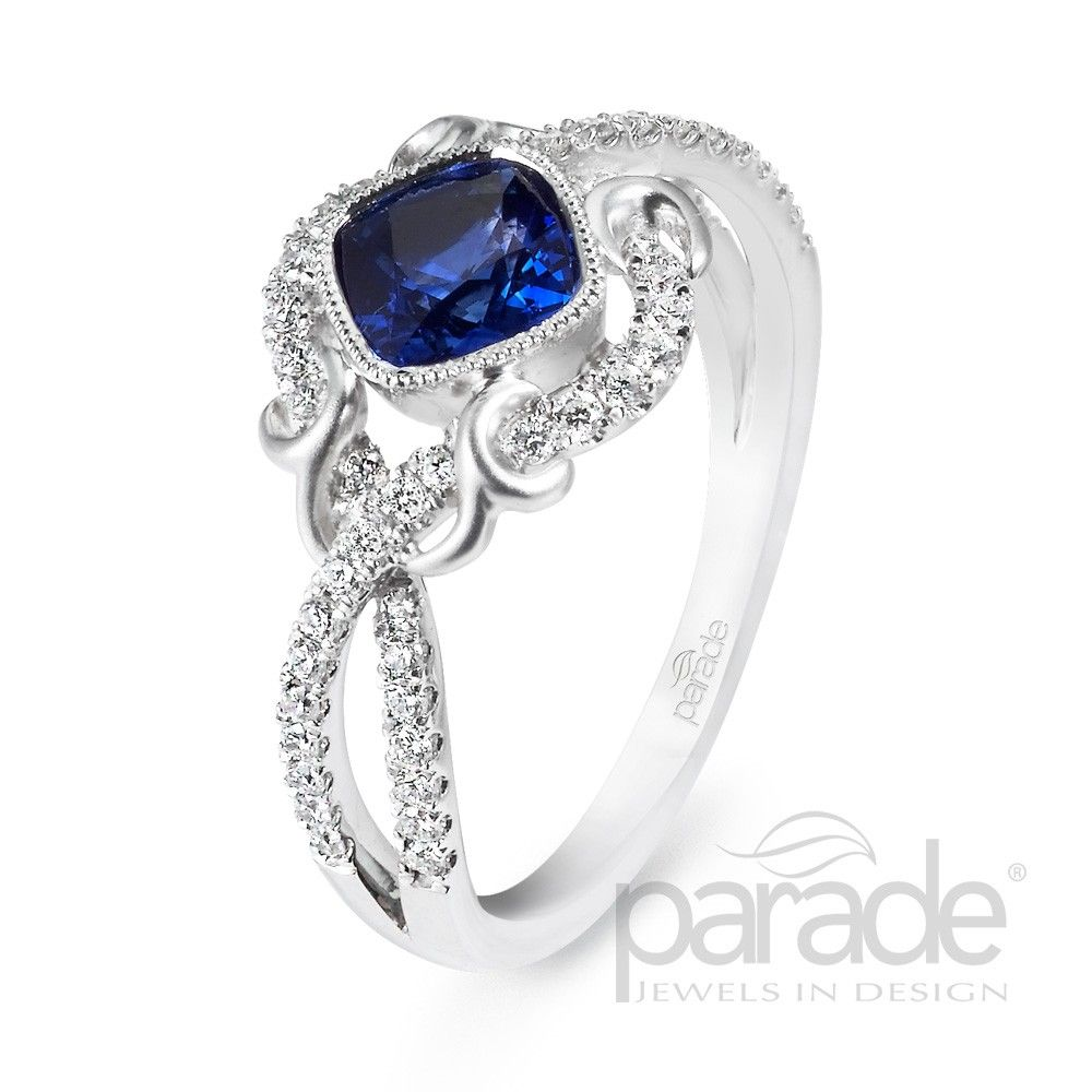 Ladies Parade™ White Gold Sapphire and Diamond Ring | Sapphire | Gemstones | Riddle's Jewelry