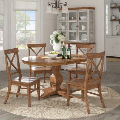 South Hill Oval Extendable Pedestal Base Dining Table Bark